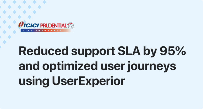 How ICICI Prudential Life Insurance reduced support SLAs and optimized user journeys