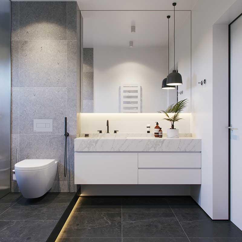 thiết kế phòng tắm nhỏ tiện nghi