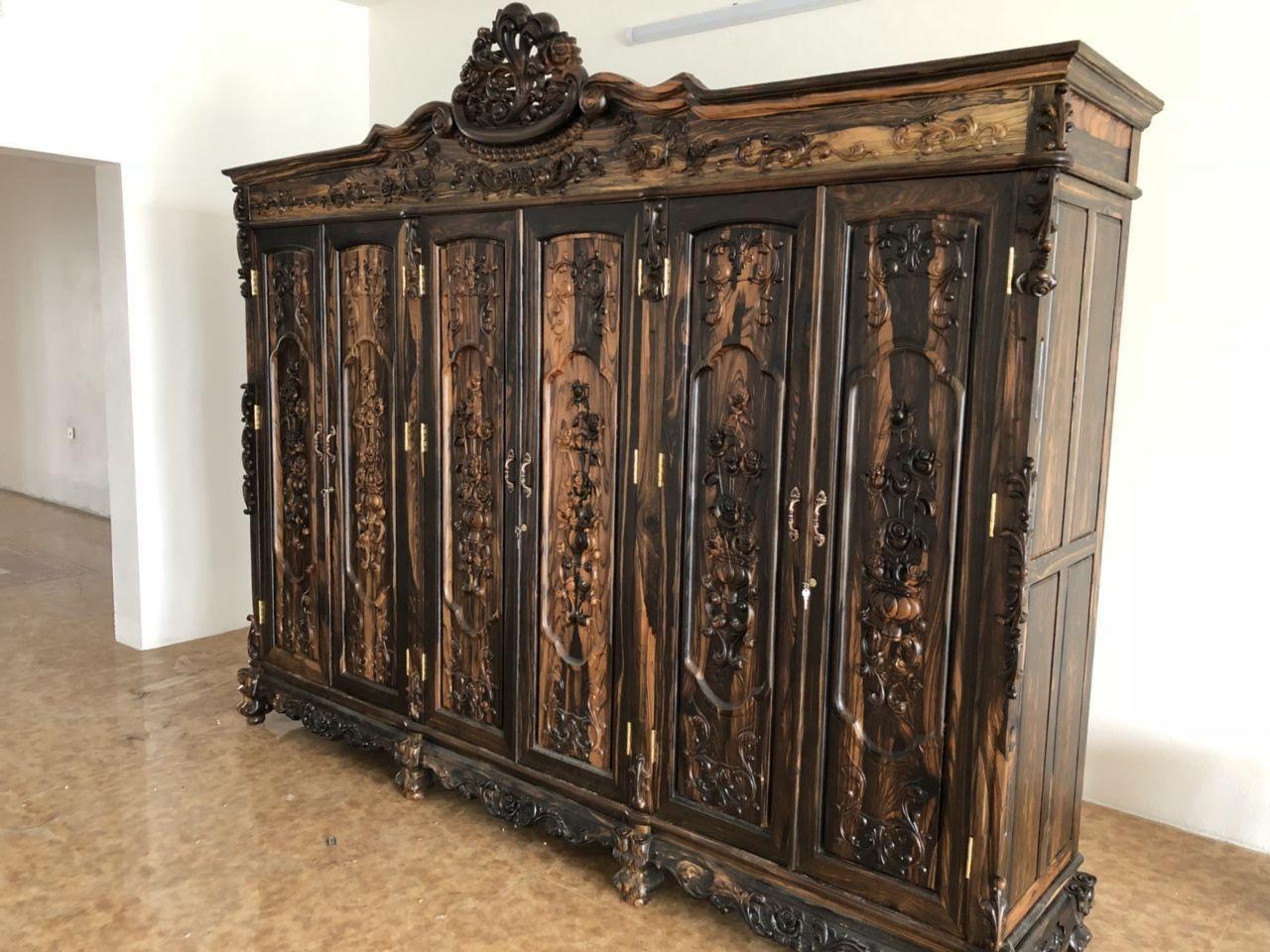 tủ thờ gỗ mun