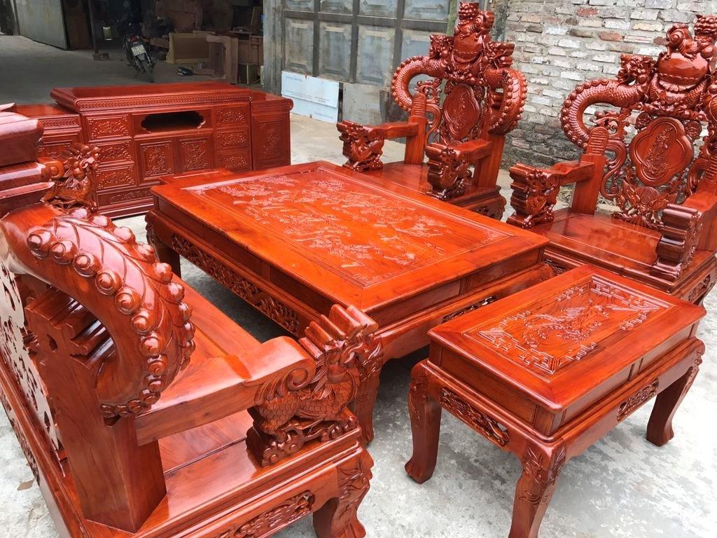 Bộ bàn ghế gỗ hương đỏ