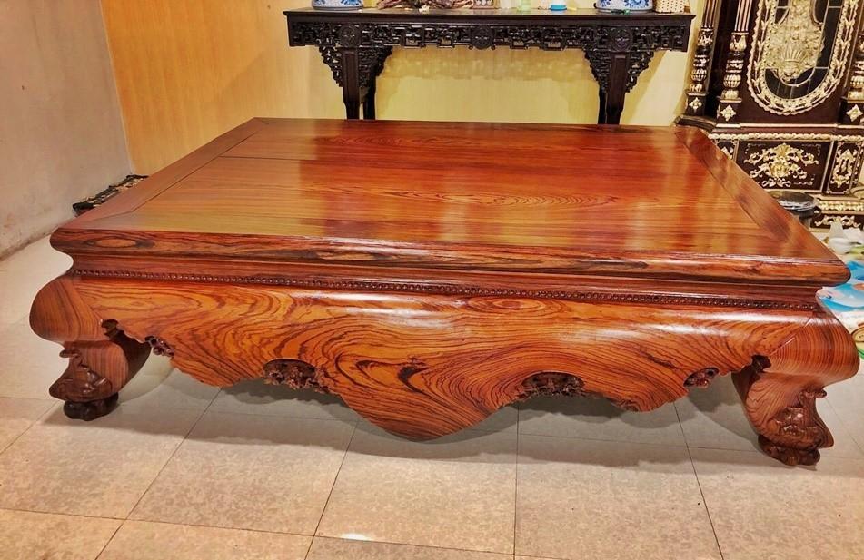 Sập ngồi bằng gỗ hương đá tự nhiên