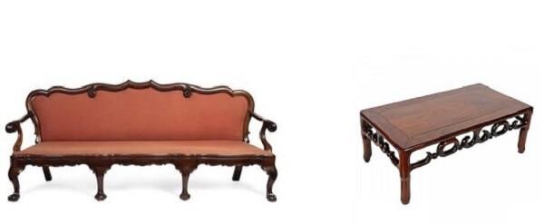bàn ghế âu á gỗ hương