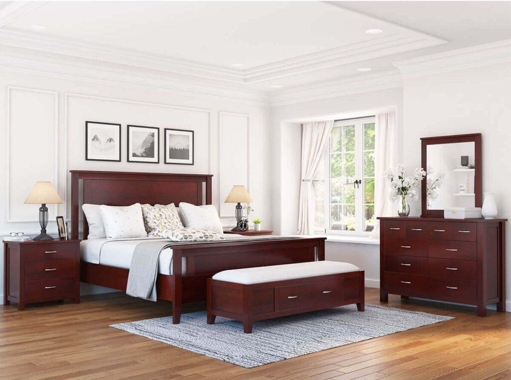 Các món đồ nội thất gỗ gụ có màu rất đẹp, thường là màu nâu đậm hoặc sắc nâu đỏ. (Ảnh sưu tầm)