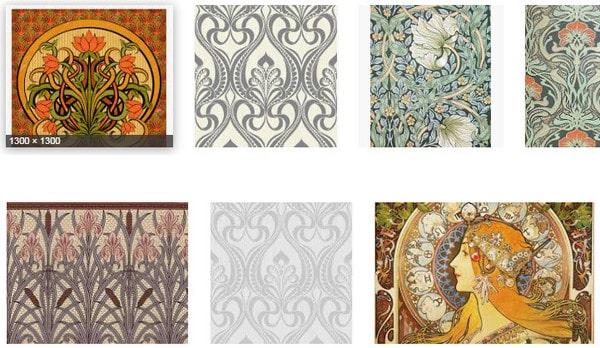 Ứng dụng của Art Nouveau trong thiết kế