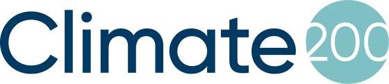 Climate 200's logo. The words Climate, with the number 200 surrounded by a circle next to it.