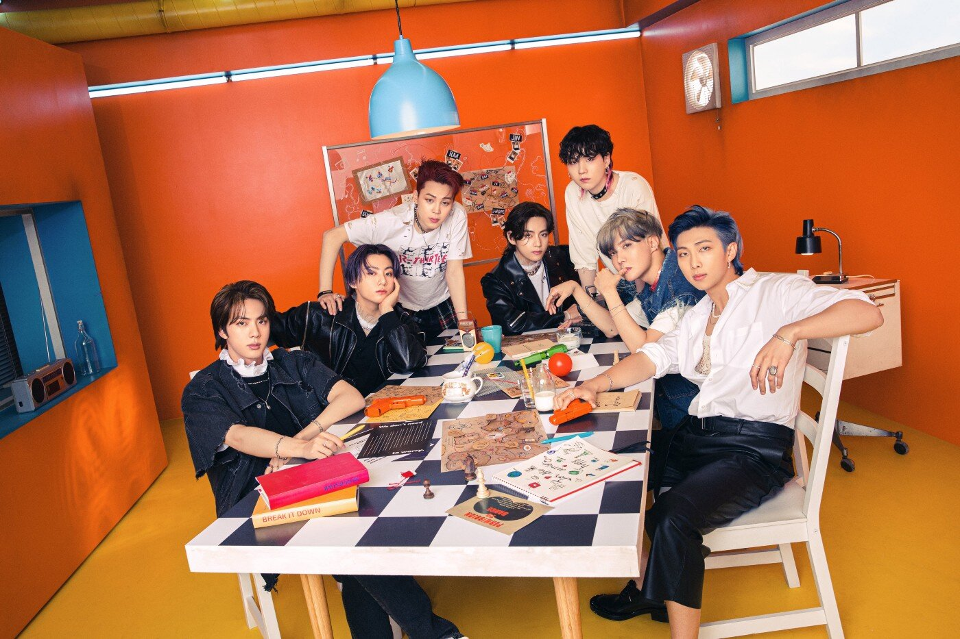 BTS in Concept Version 1 for the Butter CD. Photo copyright Big Hit Music.