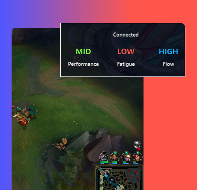 During the game, you can monitor your metrics live with the game overlay