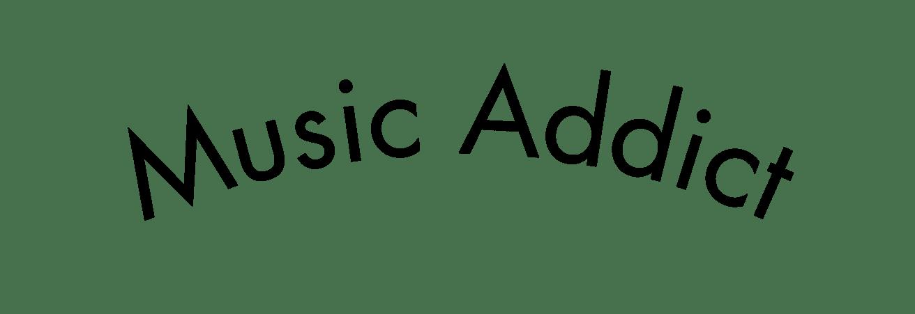 visuel publicitaire - music addict