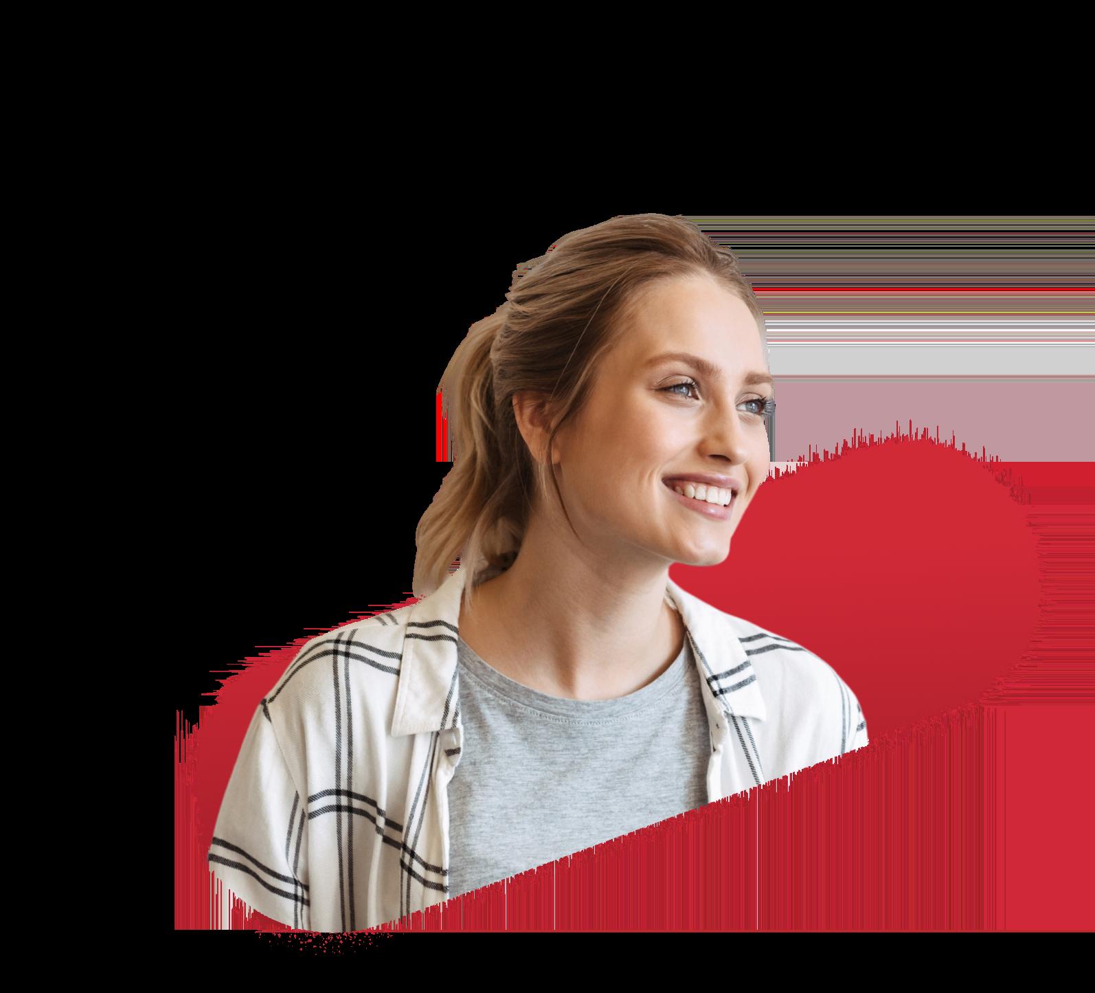 publicité digitale programmatique - Femme souriante
