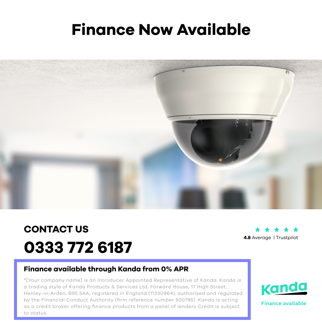 An advertisement example showing installations from £80/m with the financial introducer disclaimer highlighted