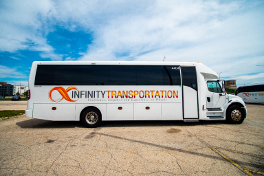 Freightliner M2-106 middle size bus for small groups