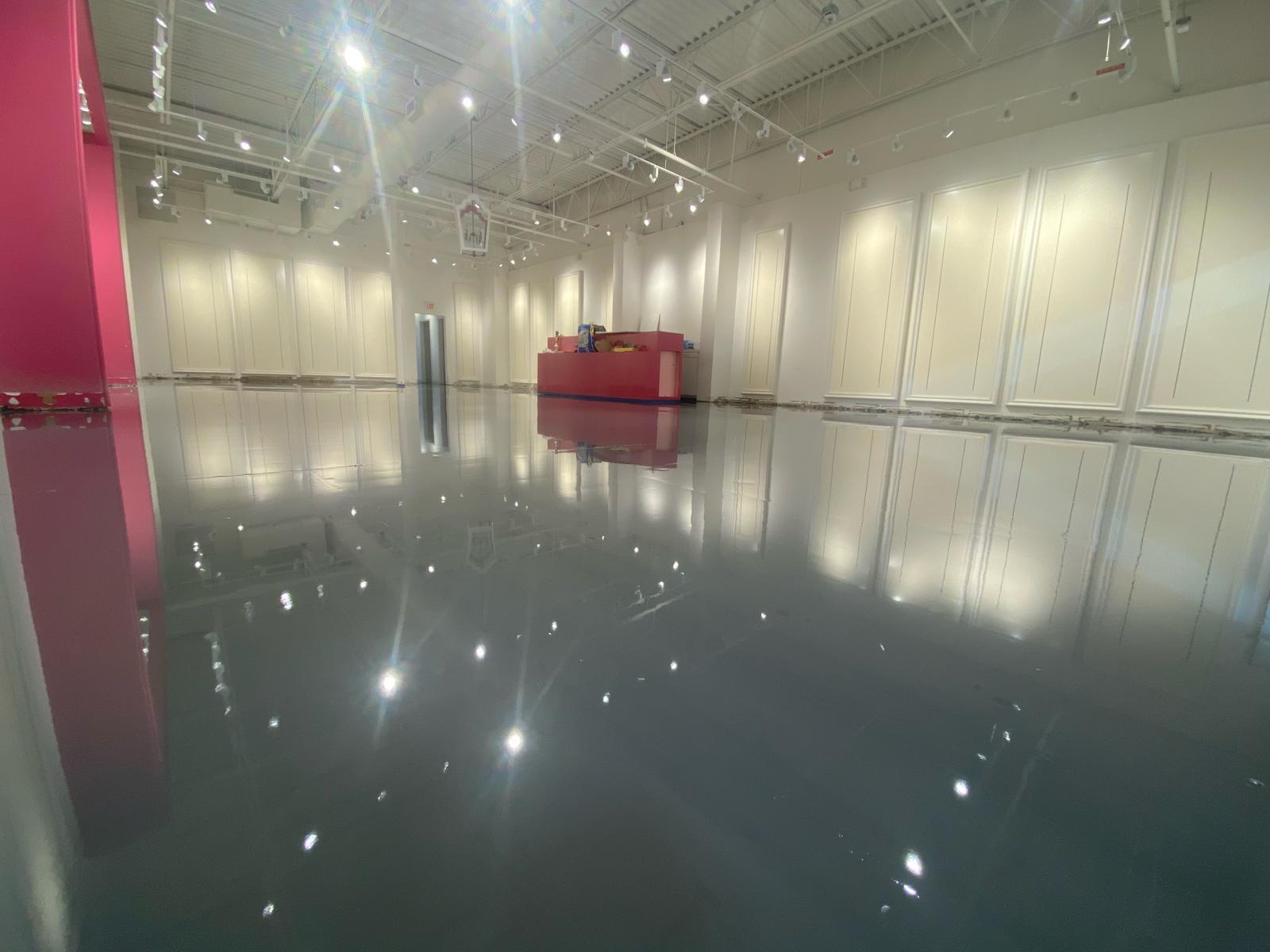 Epoxy Flooring In Shopping Centre Atlanta