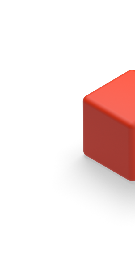 Decorate 3D Illustration of a cube.