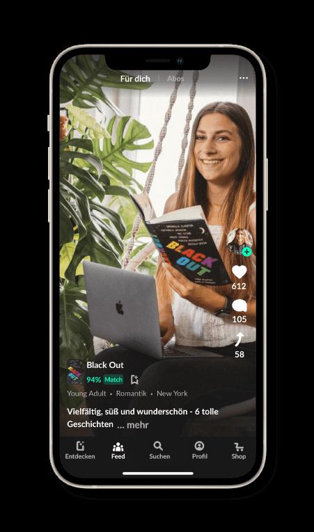 In der READO App kann man sich  Meinungen zu Büchern anschauen