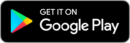 """A badge of Google Play app store. """"Get it on Google Play"""""""