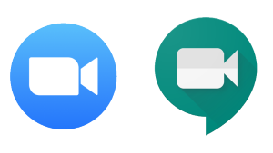 Zoom and google meet logo for appointment scheduling