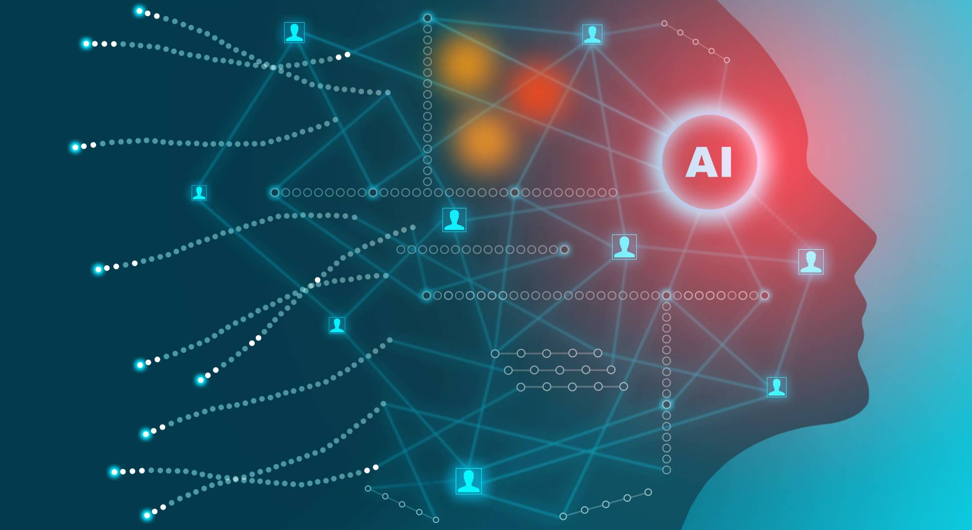 AI and big data head icon