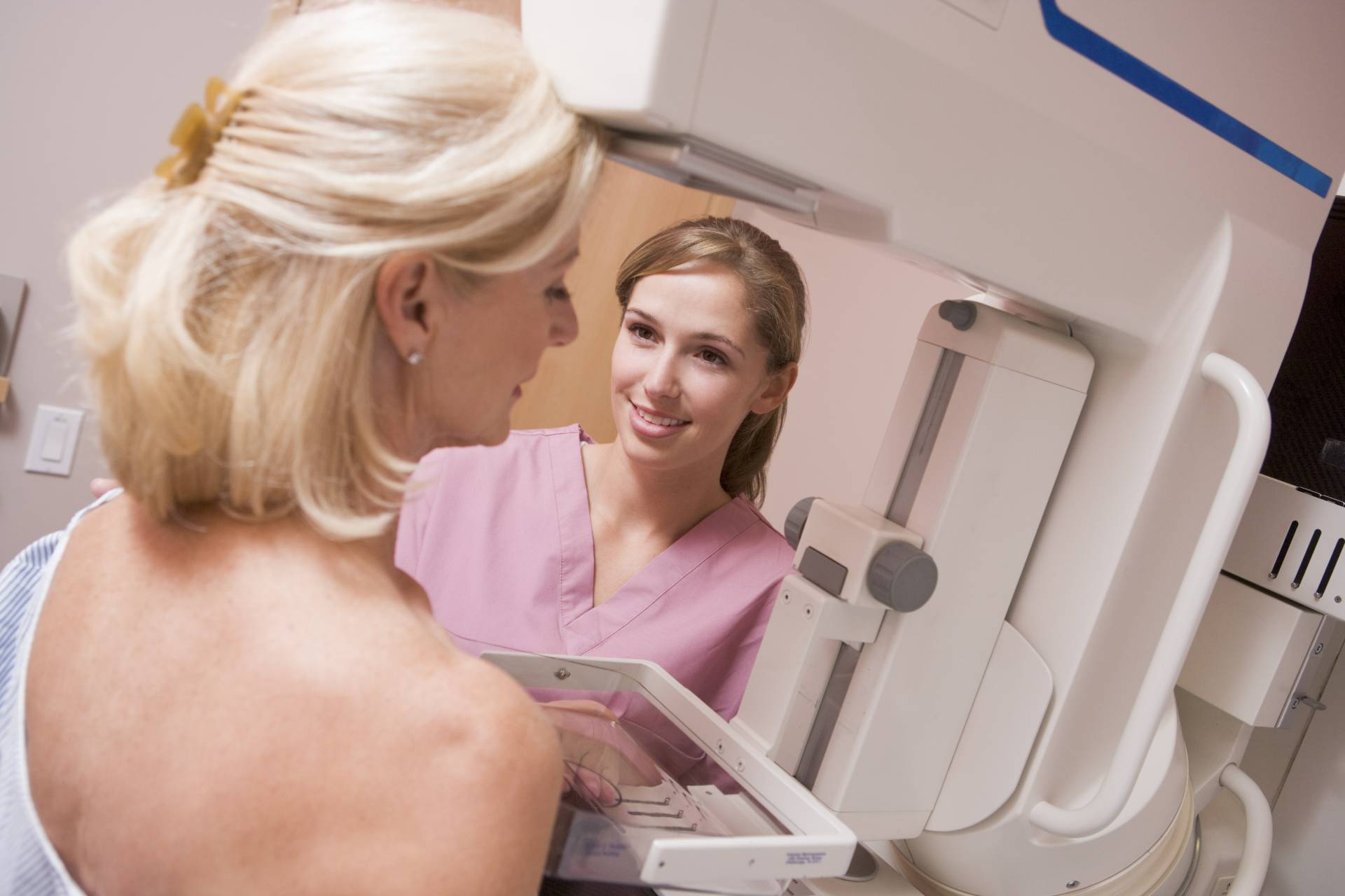 Mammography examination patient