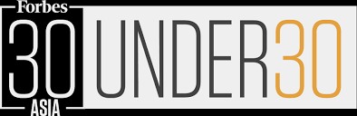 Recognised and listed under Forbes' The 30 Under 30 Asia cohort