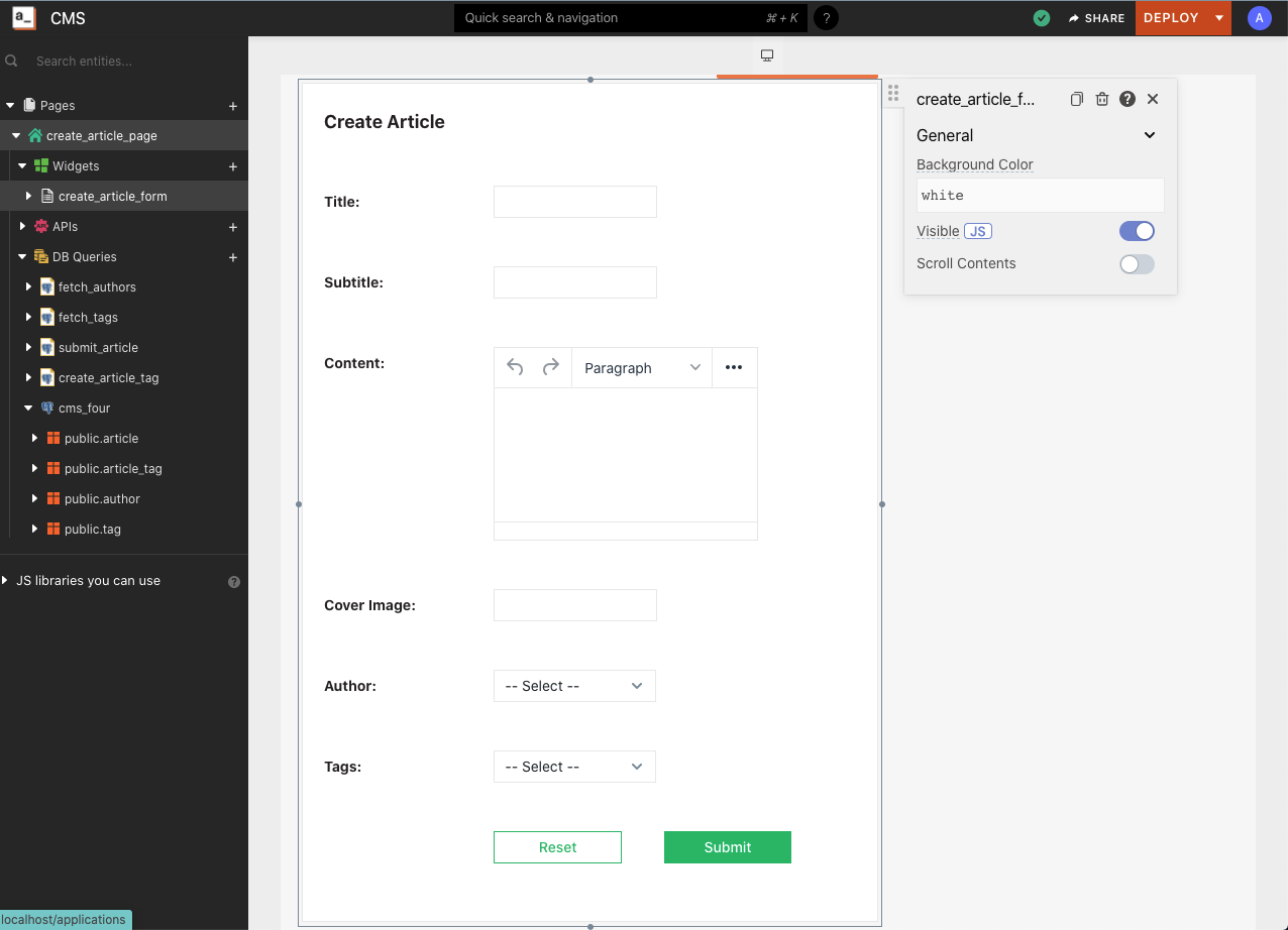 The create_article_form