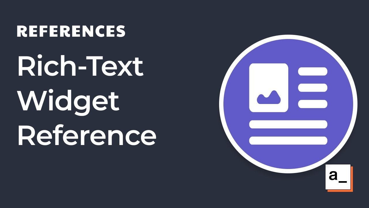 How to use the Rich-Text-Editor Widget
