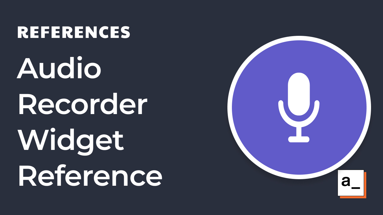 How to Use the Audio Recorder Widget in Appsmith