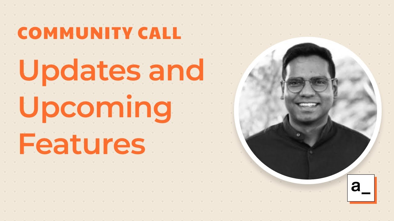 New Updates and Upcoming Features(Git sync, JS libraries, undo-redo): Community Call Aug 19, 2021