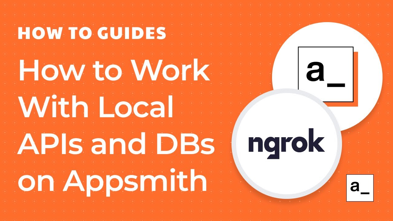 How to work with Local APIs and Databases on Appsmith