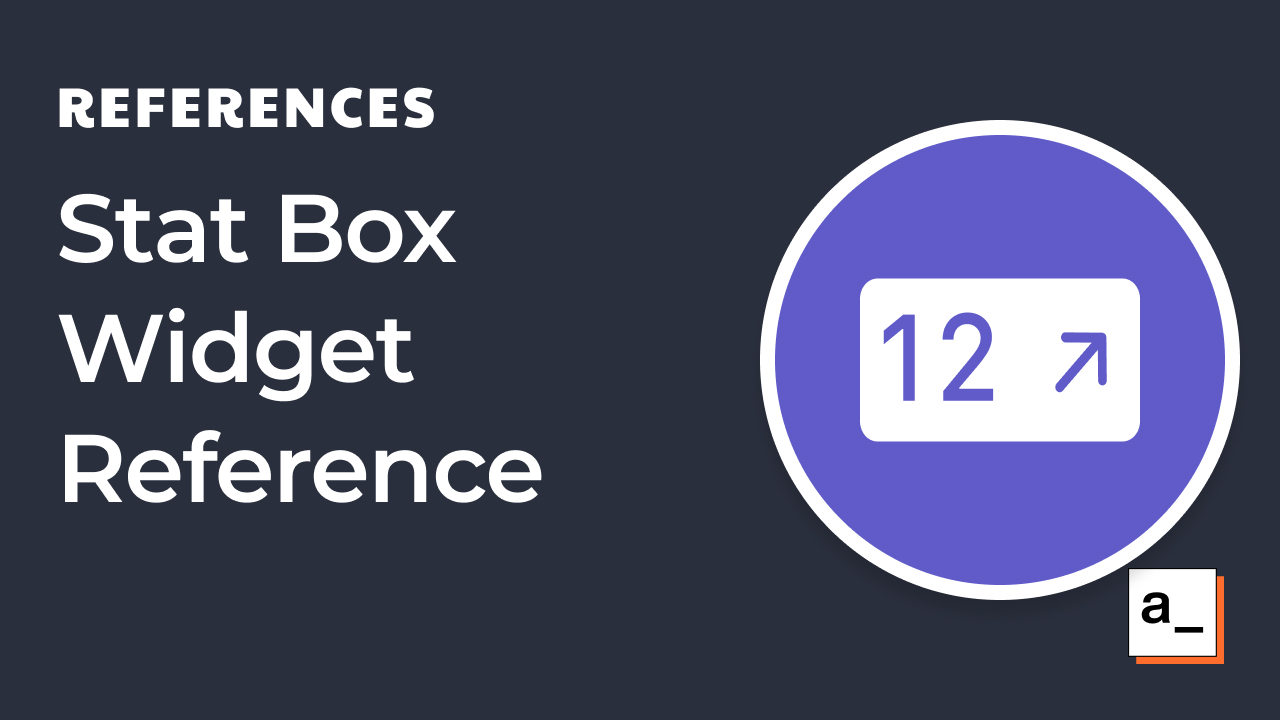 How To Use The Stat Box Widget In Appsmith