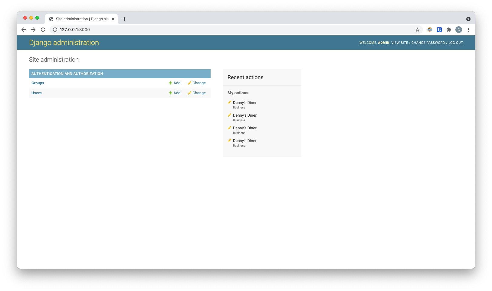 image showing admin dashboard