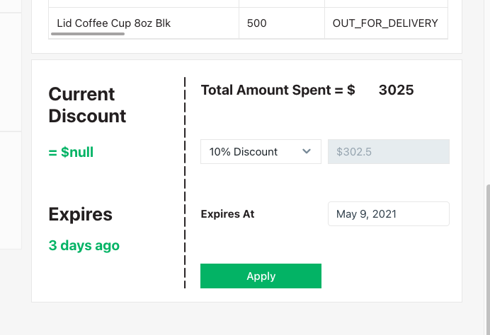 image showing discount form configuration
