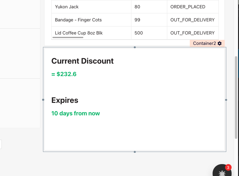 image showing discount amount and expiration display