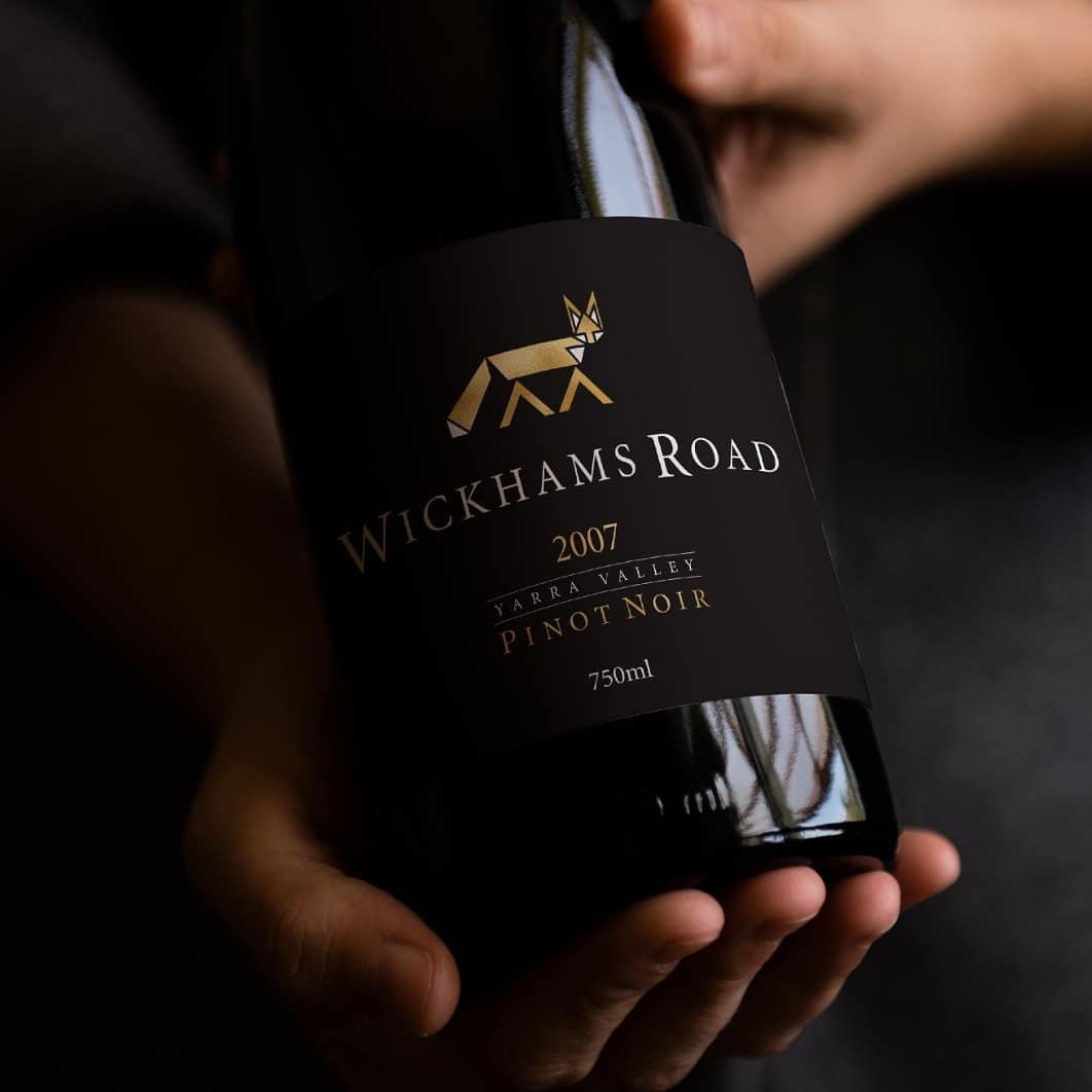 Wickham's Road wine bottle print