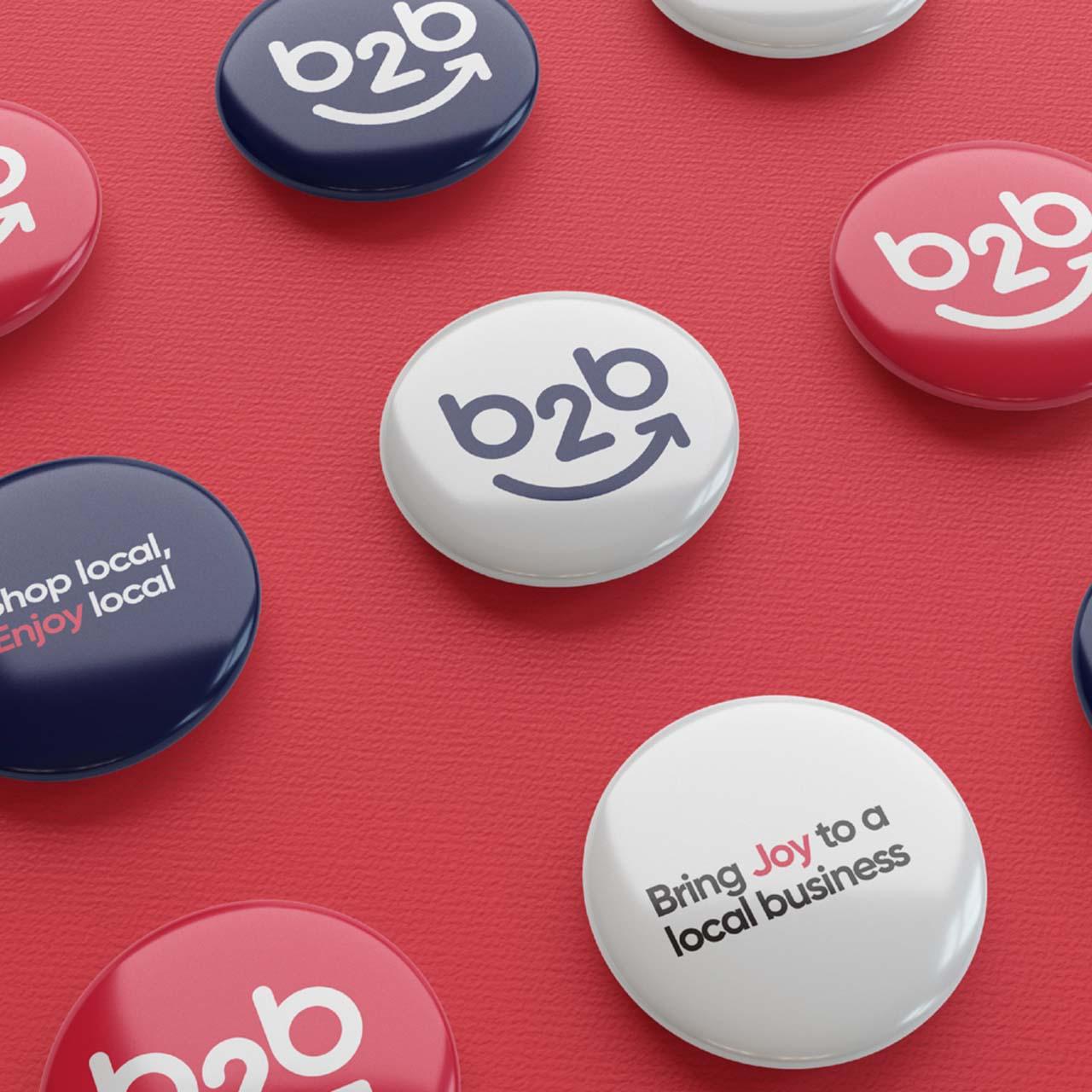 Business2Ballarat logo pins