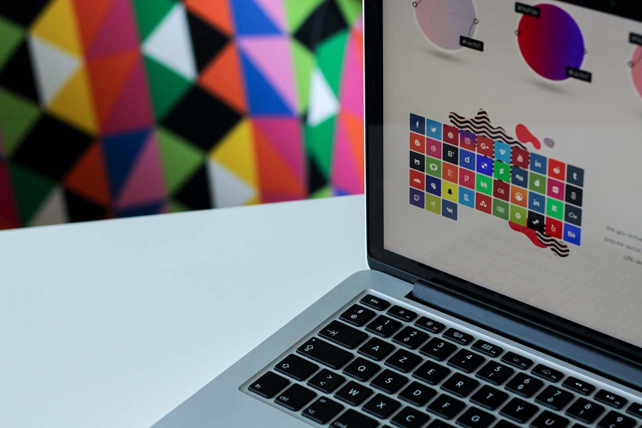 Image of laptop with brand ideas open