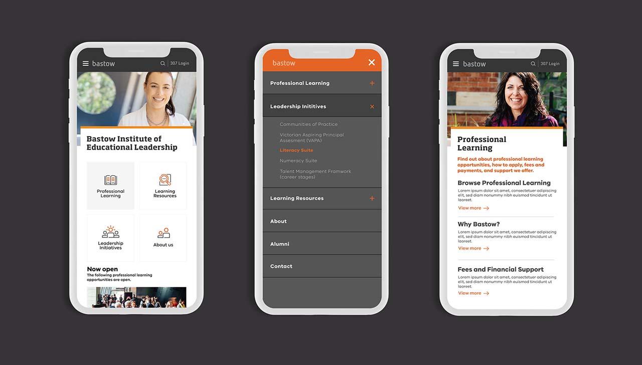 Bastow mobile website design