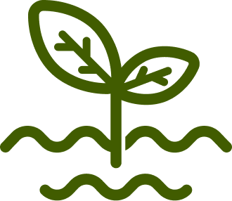 Icon of a plant growing in dirt