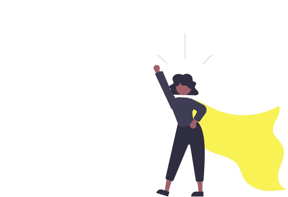Powerful hero woman
