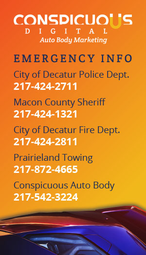 Emergency Info Wallet Card for Auto Body Shop