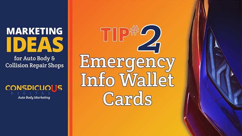 Emergency Info Wallet Cards for Auto Body Shops