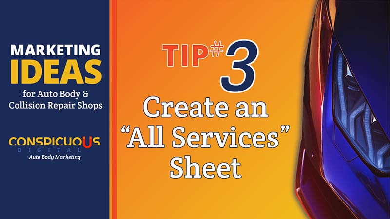 """Create an """"All Our Services"""" Sheet for your Collision Repair Shop"""