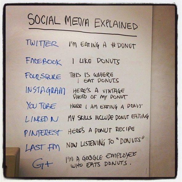 social media donut