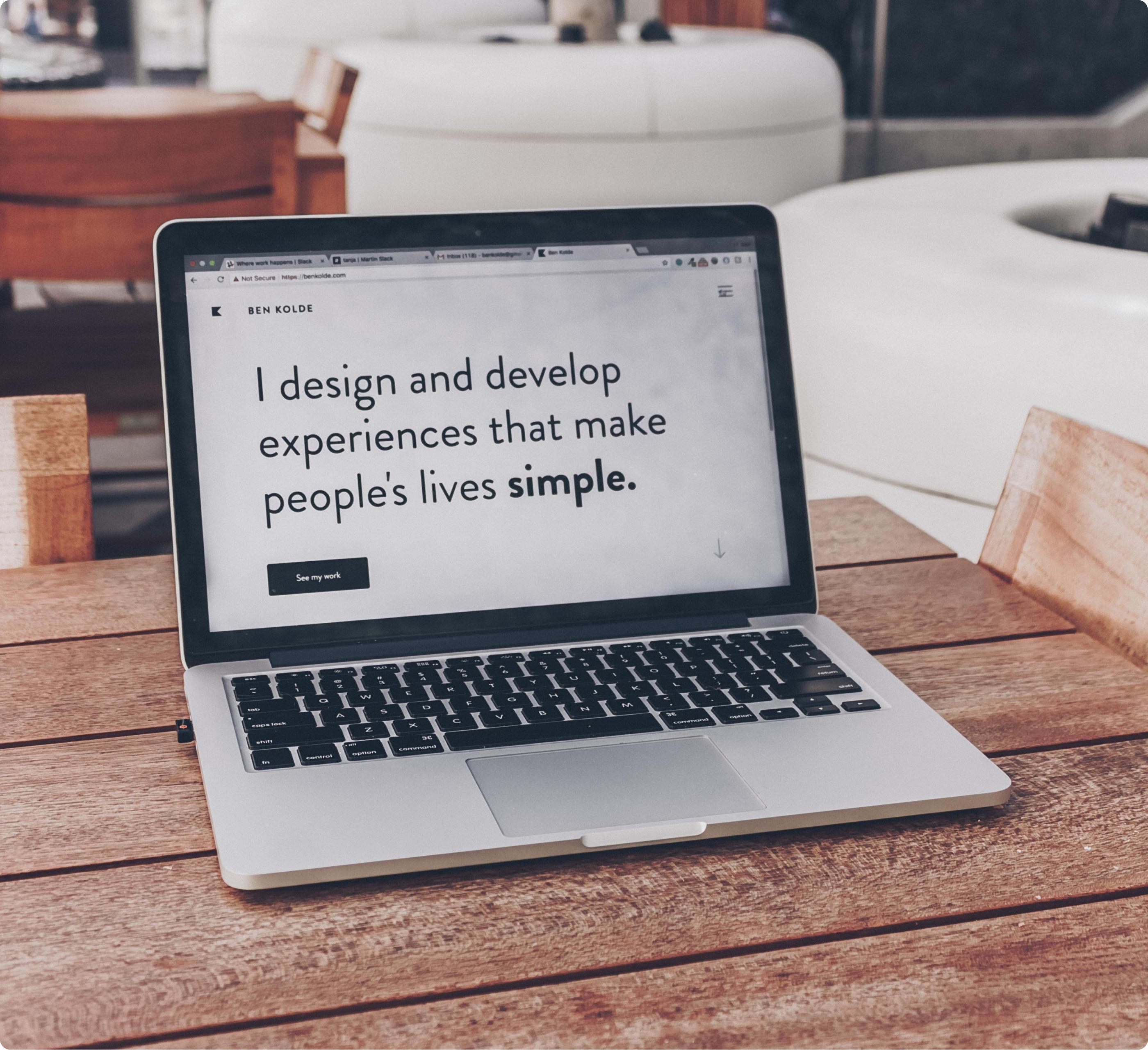 Diseño de sitio pensado en UX.