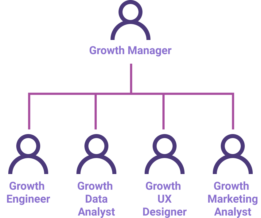 Organigrama: Equipo de Growth Marketing.