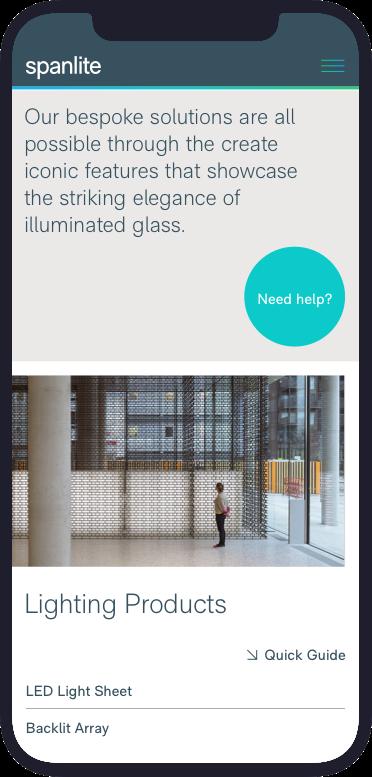 Spanlite Mobile Desing - Lighting Page
