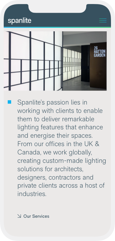 Spanlite Mobile Design - Product Page