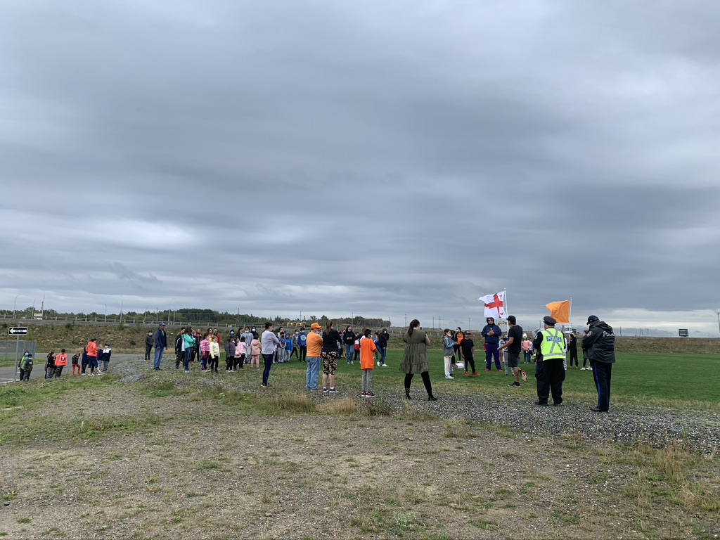 Membertou students took part in the Terry Fox Run on September 28th. Their Phys Ed teacher Donavon Christmas coordinated the event and explained who Terry Fox was and the importance of the event to the students.