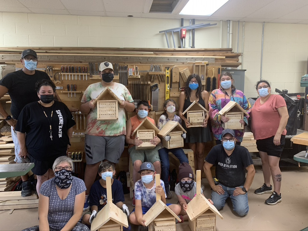 Mi'kmaw Kina'matnewey, in partnership with Apprenticeship NS, Nova Scotia Construction Sector Council and Skills Canada, was able to offer a 2-day carpentry camp at LSK school.