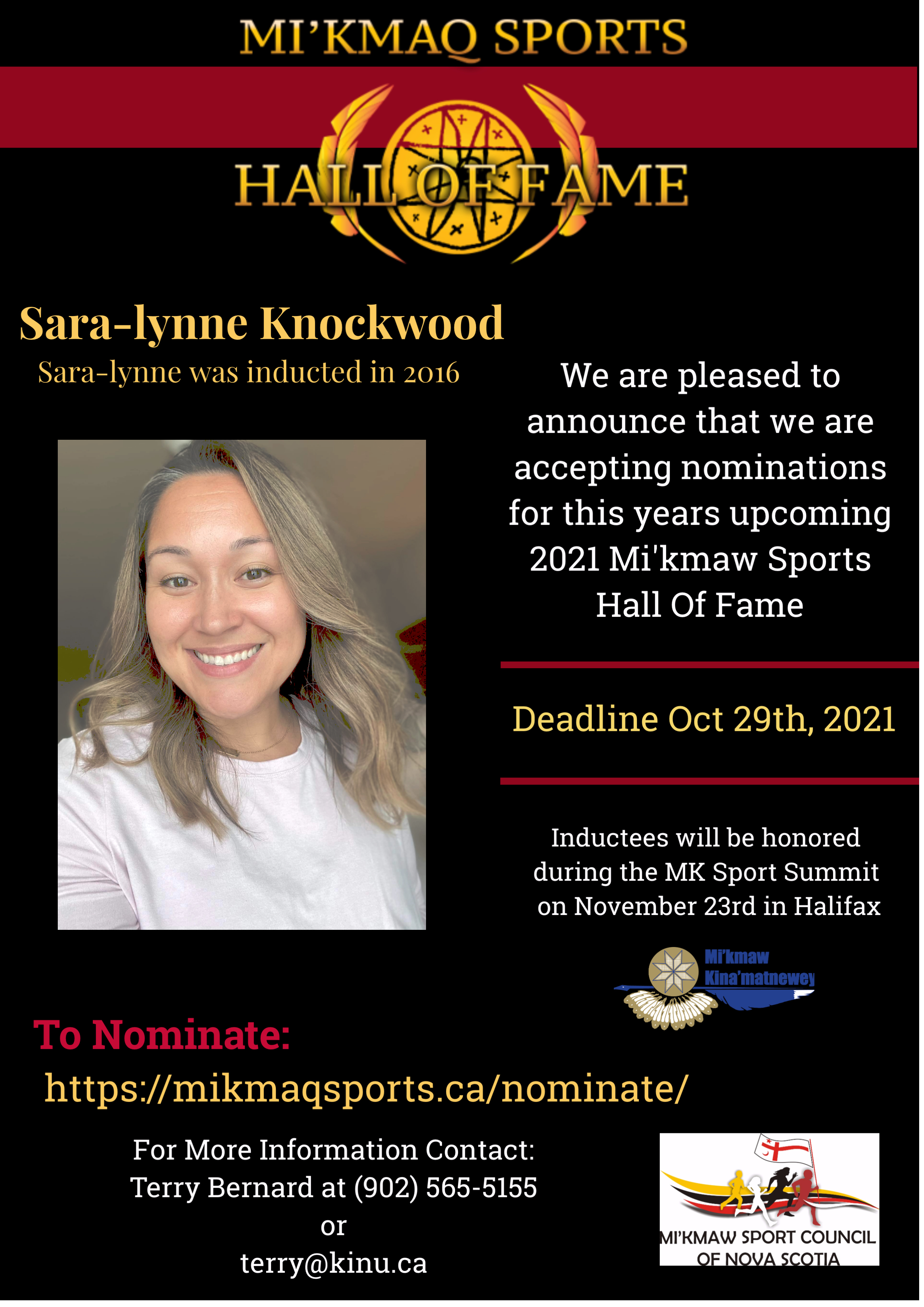 Nominations are now open for the Mi'kmaq Sports Hall of Fame