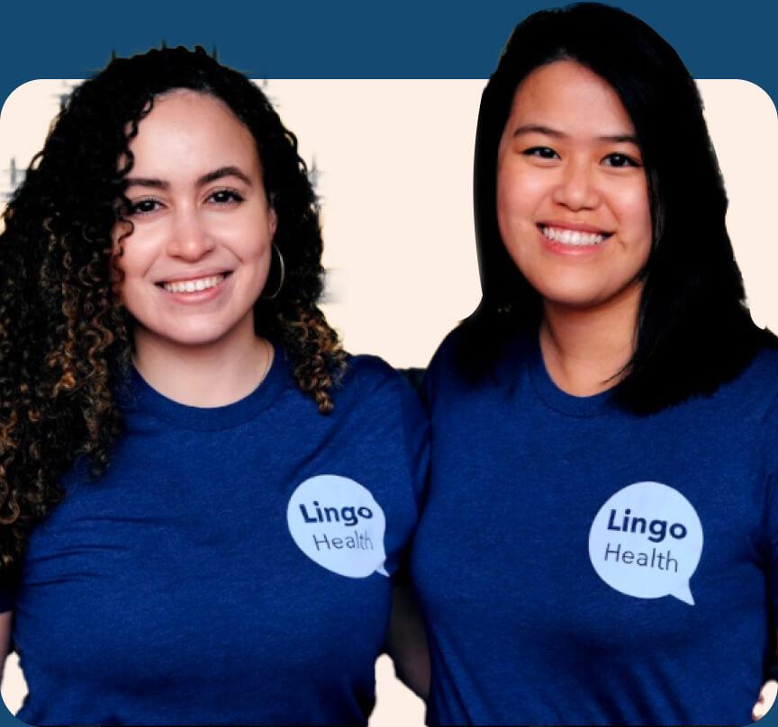 Yaritza Vargas and Jessica Chao, LingoHealth co-founders.